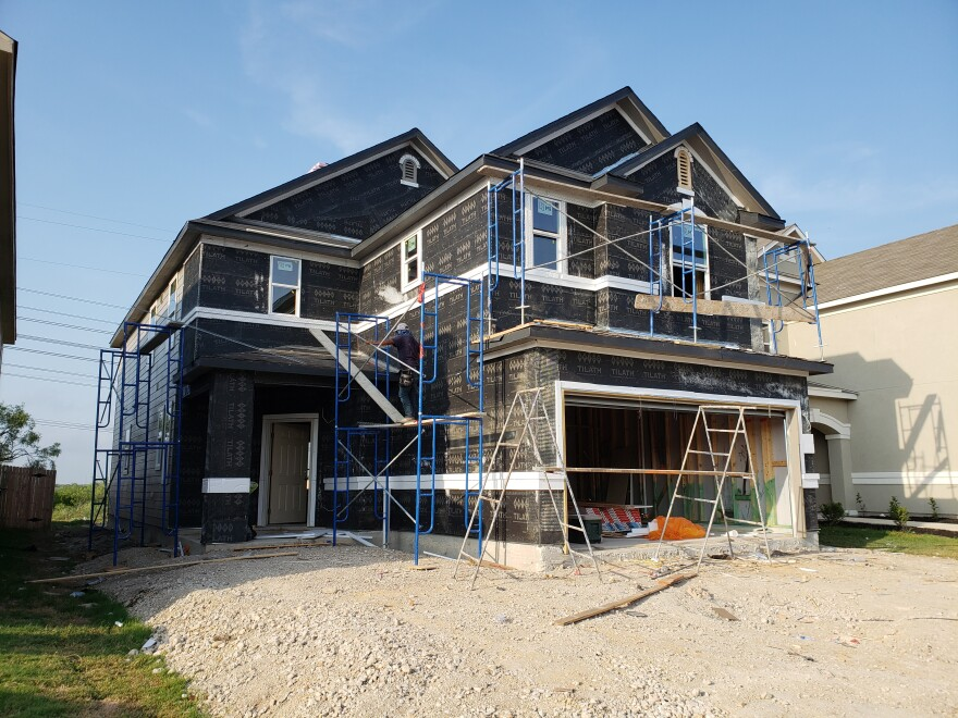A house under construction on Marbach Road in San Antonio pictured in a 2018 file photo.