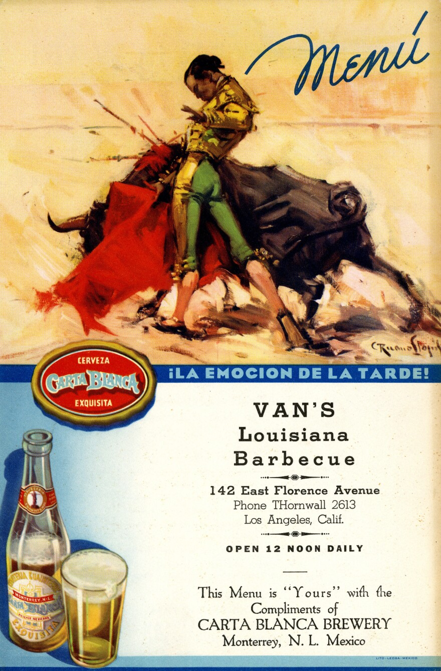 Van's Louisiana Barbecue, 1942.