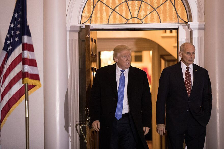In a tweet Friday evening, President Trump named John Kelly, secretary of homeland security, as his new chief of staff.