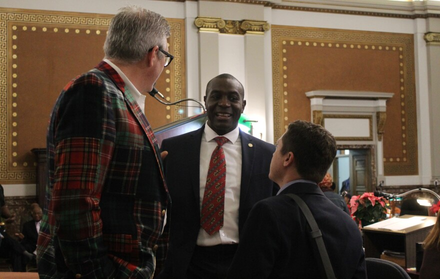St. Louis Board of Aldermen President Lewis Reed voted for the revised stadium funding plan in committee on Thursday.