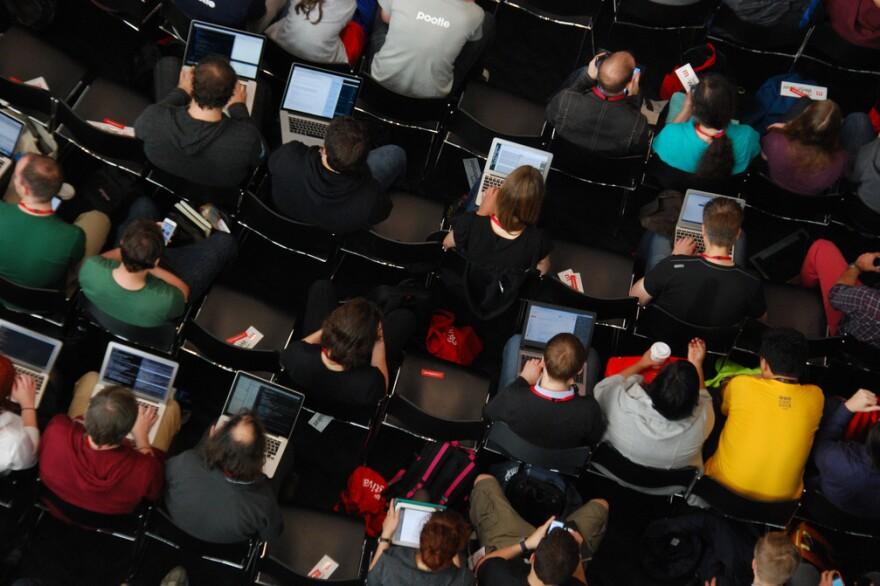 The Mozilla community at MozFest in 2013.