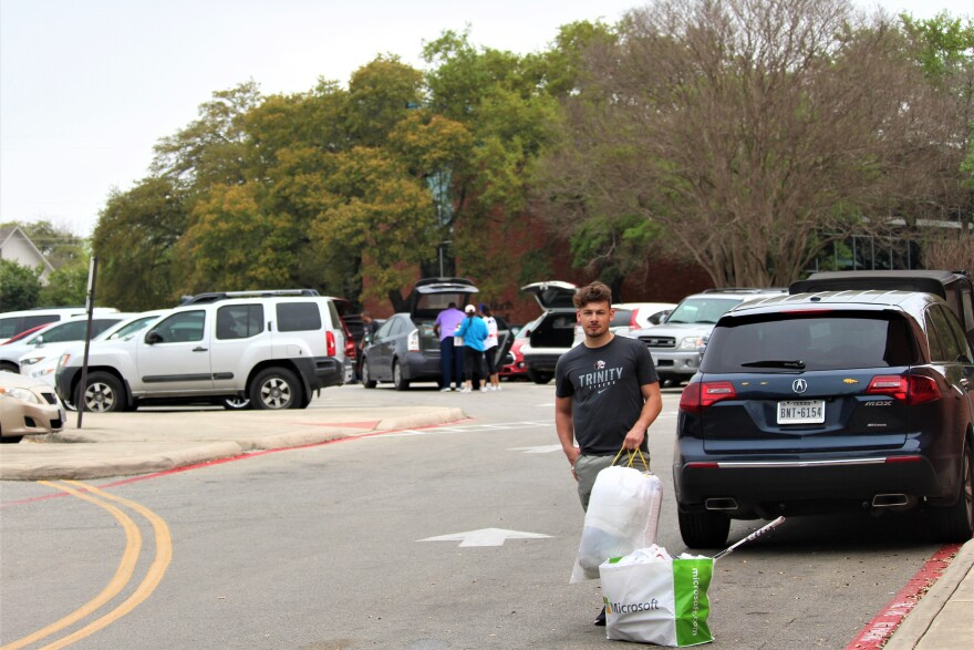 Students and families rush to move out on Sunday. Dorms close Monday afternoon. The university notified students of the closures on Wednesday.