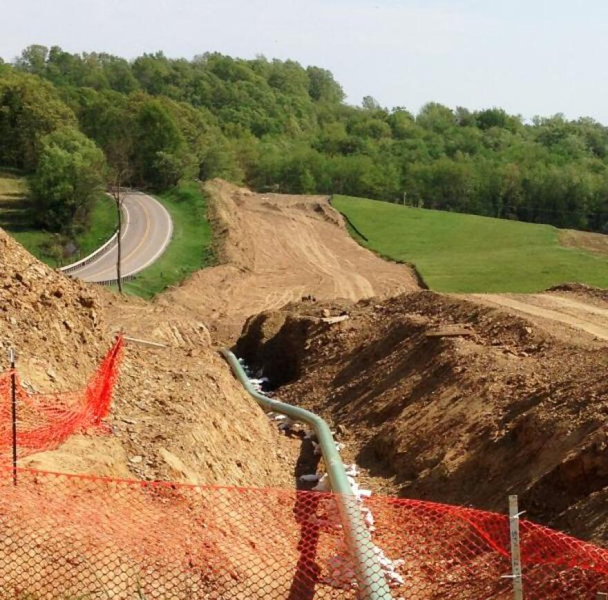 Typical pipeline construction