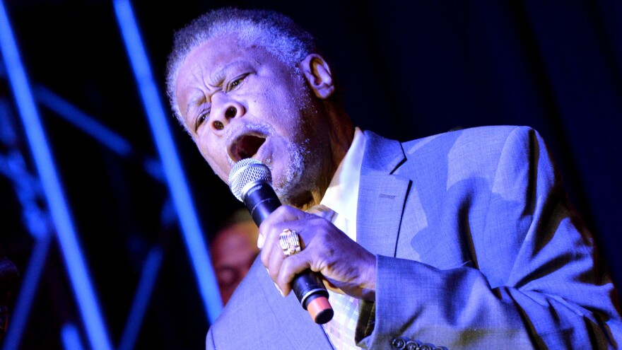 """Joe Ligon of The Mighty Clouds of Joy performs in Nashville in 2013. """"He was the type of singer that would never sit down until he had torn the house up,"""" says gospel singer Pastor Shirley Caesar."""