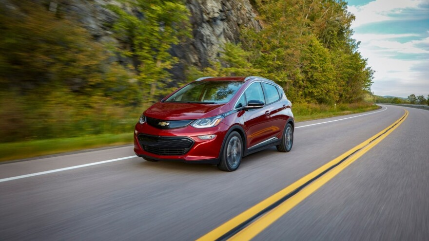 Uber drivers will receive discounts to purchase electric vehicles, like this Chevrolet Bolt.