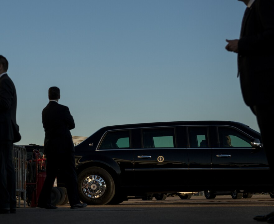 Secret Service agents stood watch earlier this month as President Obama arrived at Dallas Love Field airport.