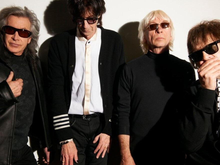 Ric Ocasek (second from left) says the decision to reunite The Cars was simple: He had a batch of new songs, and knew his former bandmates could play them best.