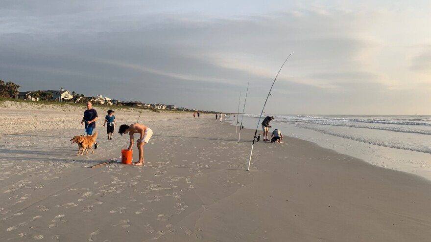 Atlantic Beach in Duval County is pictured on Saturday, April 18, after partially reopening.