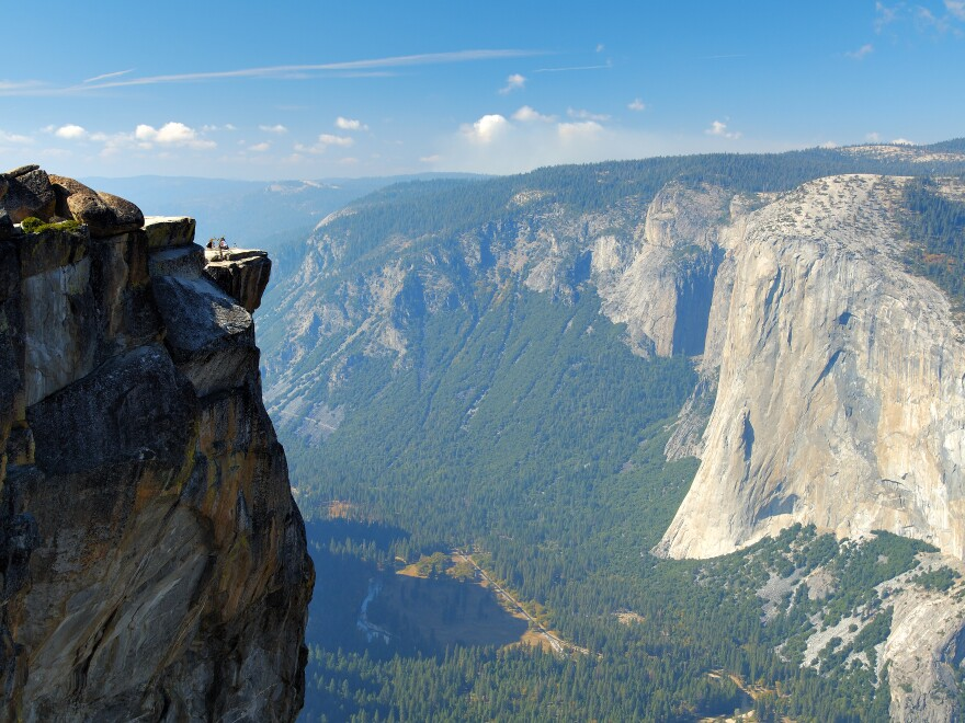 A view of Taft Point Overlook in Yosemite National Park, where a couple fell to their deaths last week.