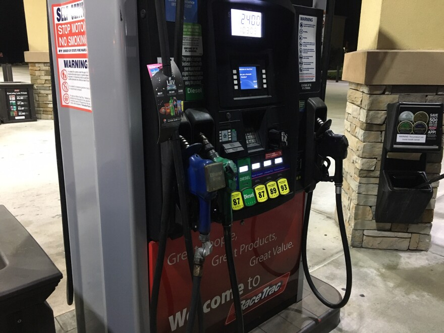 Gas prices dropped an average of 7 cents in Tampa Bay last week, to around $2.37 a gallon. CARL LISCIANDRELLO/WUSF PUBLIC MEDIA