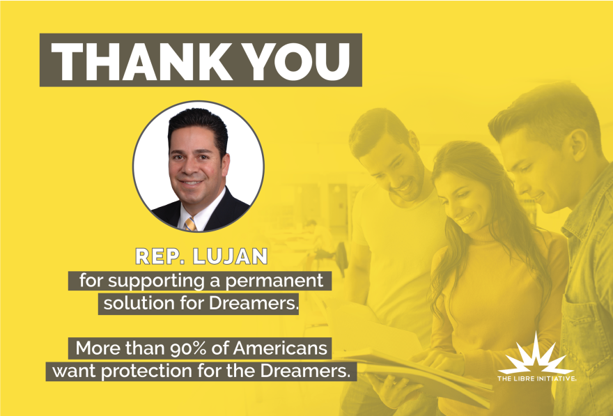 This mailer will be sent to constituents of Rep. Ben Ray Luján, D-N.M., as the LIBRE Initiative, part of the libertarian Koch network, reaches across the aisle on immigration.