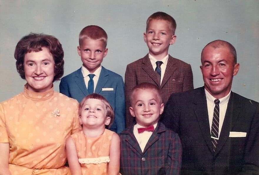 The Holters, from a church directory in the late 1960s. Clockwise from left: Sarah, Ronnie, Ricky, Dick, Randy and Ruth Ann.