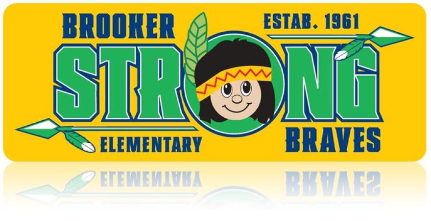 Brooker Elementary School mascot sign.