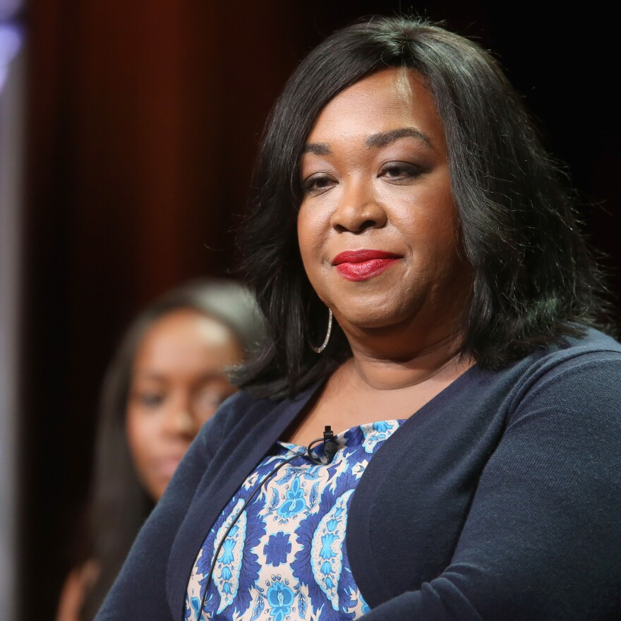 Shonda Rhimes, executive producer of <em>How to Get Away with Murder</em>, speaks during the Television Critics Association's summer press tour in Los Angeles.