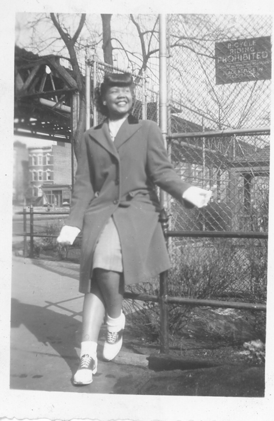 Laura Fitzpatrick in East New York in 1945. Her collection of more than 500 images was donated to the new National Museum of African American History and Culture. (Courtesy Daniel S. Evans)