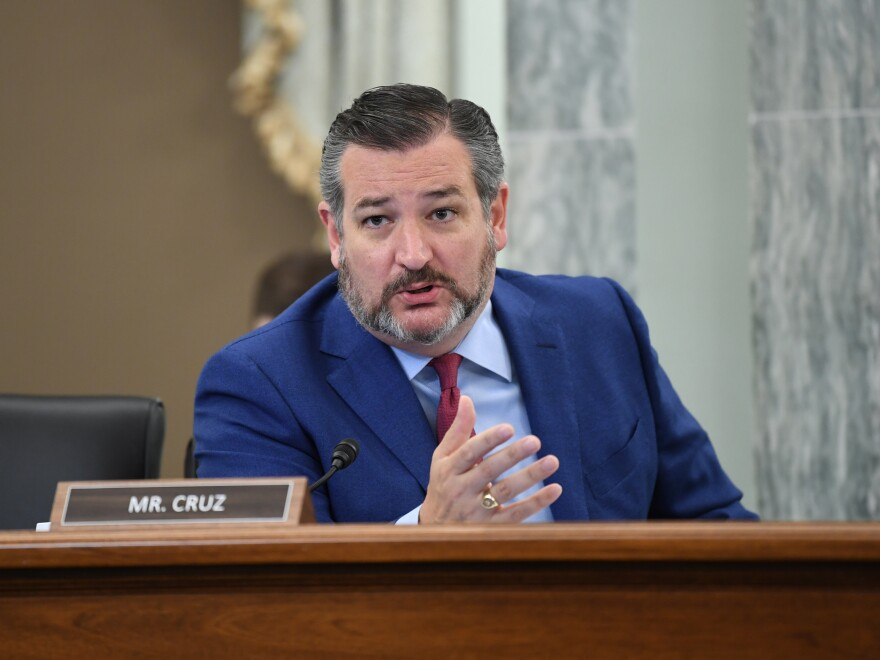 """Texas Sen. Ted Cruz, shown here on Capitol Hill in June, is known to be a superfan of the movie """"The Princess Bride."""""""