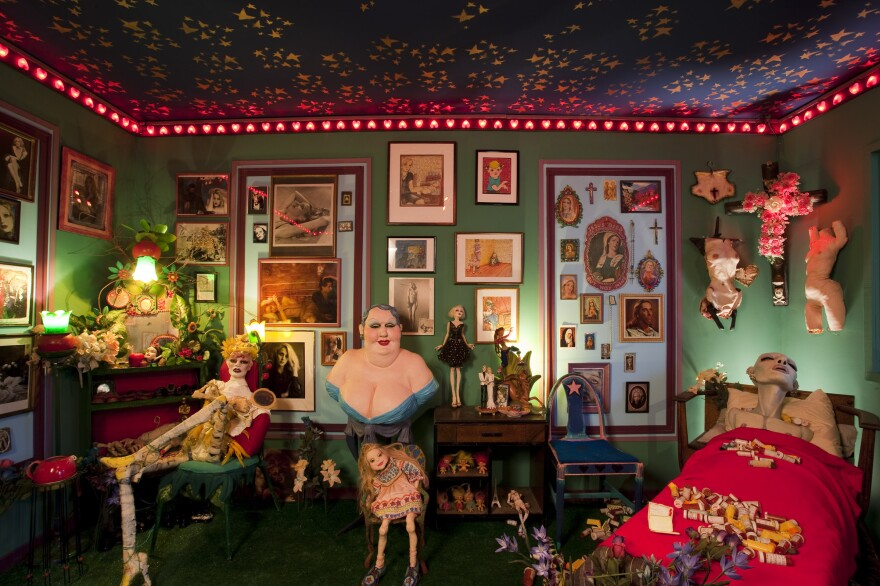 """Greer Lankton recreated her Chicago apartment in <a href=""""http://www.mattress.org/archive/index.php/Detail/Collections/114"""">It's all about ME, not you</a>, 2009."""