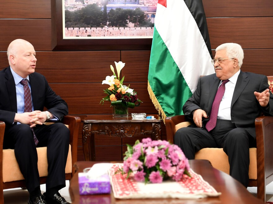 Greenblatt met with Palestinian leader Mahmud Abbas in the West Bank city of Ramallah on May 25.