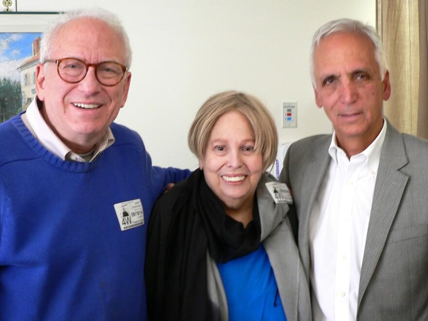 Barry Josephson (from left), Dixie Josephson, Dr. Skip Granai at Women and Infants Hospital in Providence, R.I., in September.