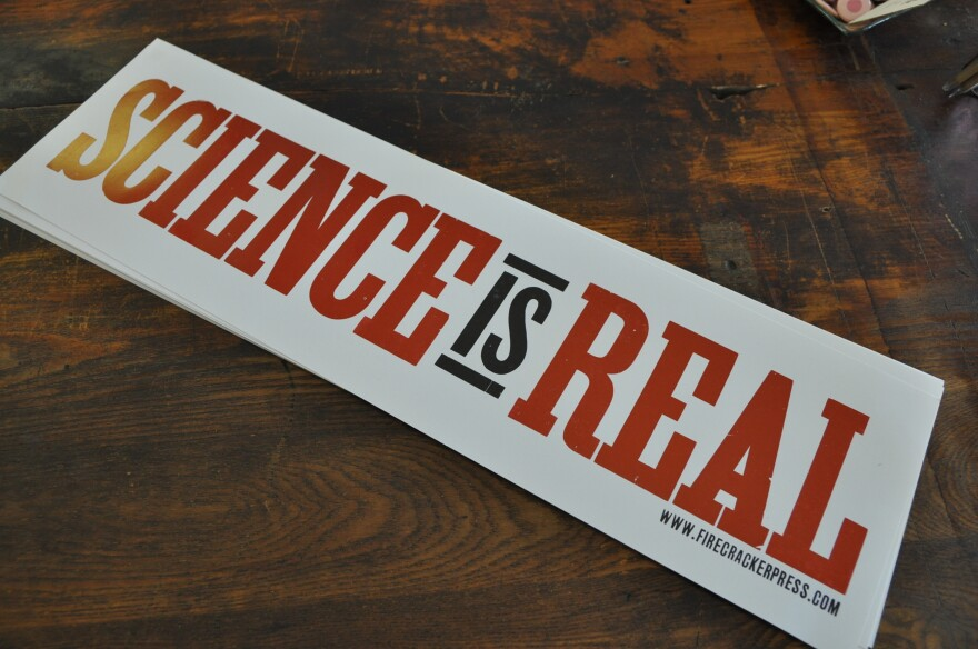 March for Science posters for sale at Firecracker Press.