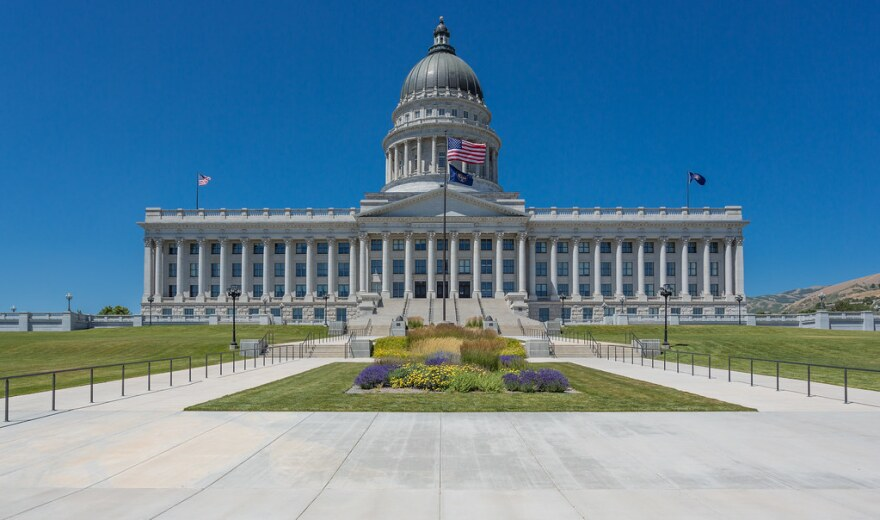 A photo of the Utah State Capitol.