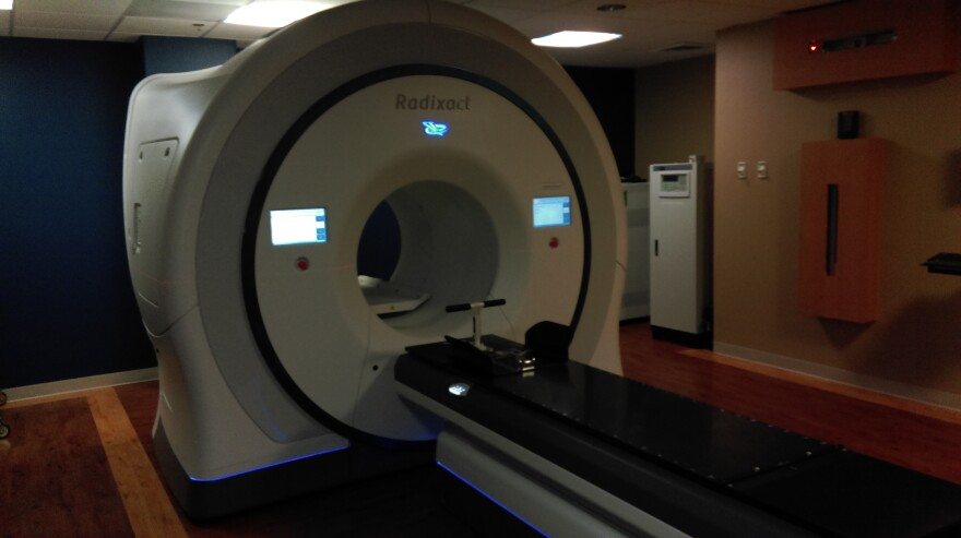 The Radixact radiation therapy machine at the Capital Regional Cancer Center.