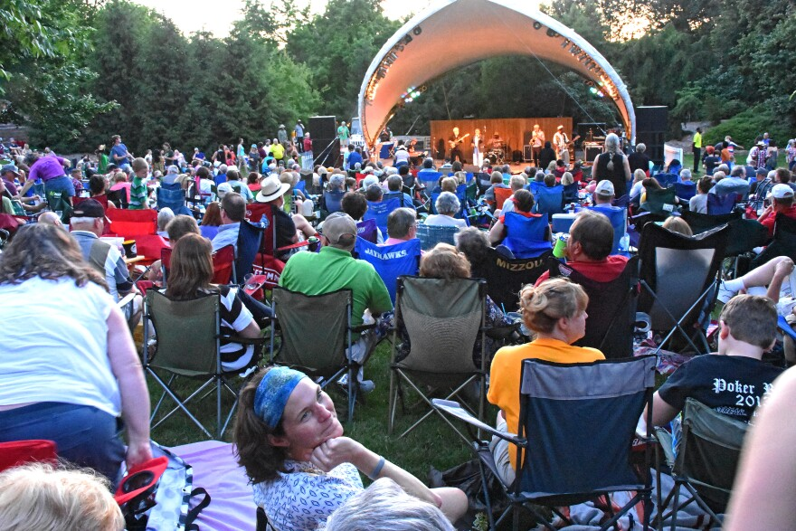 Fans gather for a concert in the Whitaker Music Festival at Missouri Botanical Garden. This is one of many events cancelled this summer because of the coronavirus.[6/25/20]