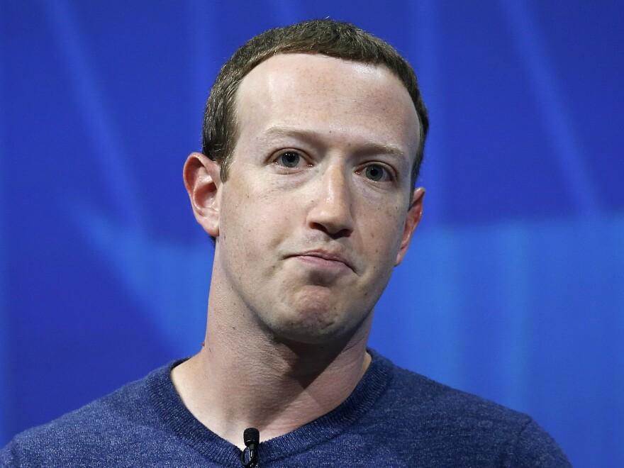 Facebook's founder and CEO Mark Zuckerberg.