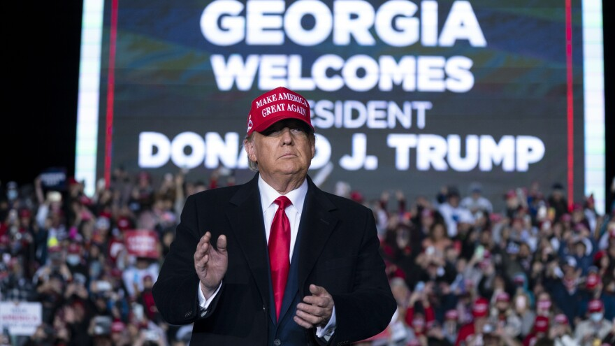 President Trump, seen at a Nov. 1 rally in Rome, Ga., will return to the state to campaign for Republicans in Senate runoffs as he seriously considers another bid for the White House. Other possible 2024 GOP candidates have campaigned in Georgia recently.