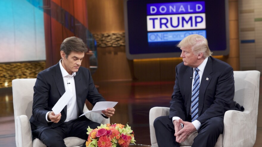 TV host Mehmet Oz reviews Trump's medical records on The Dr. Oz Show on Wednesday, September 14 in New York City. The episode aired on Thursday