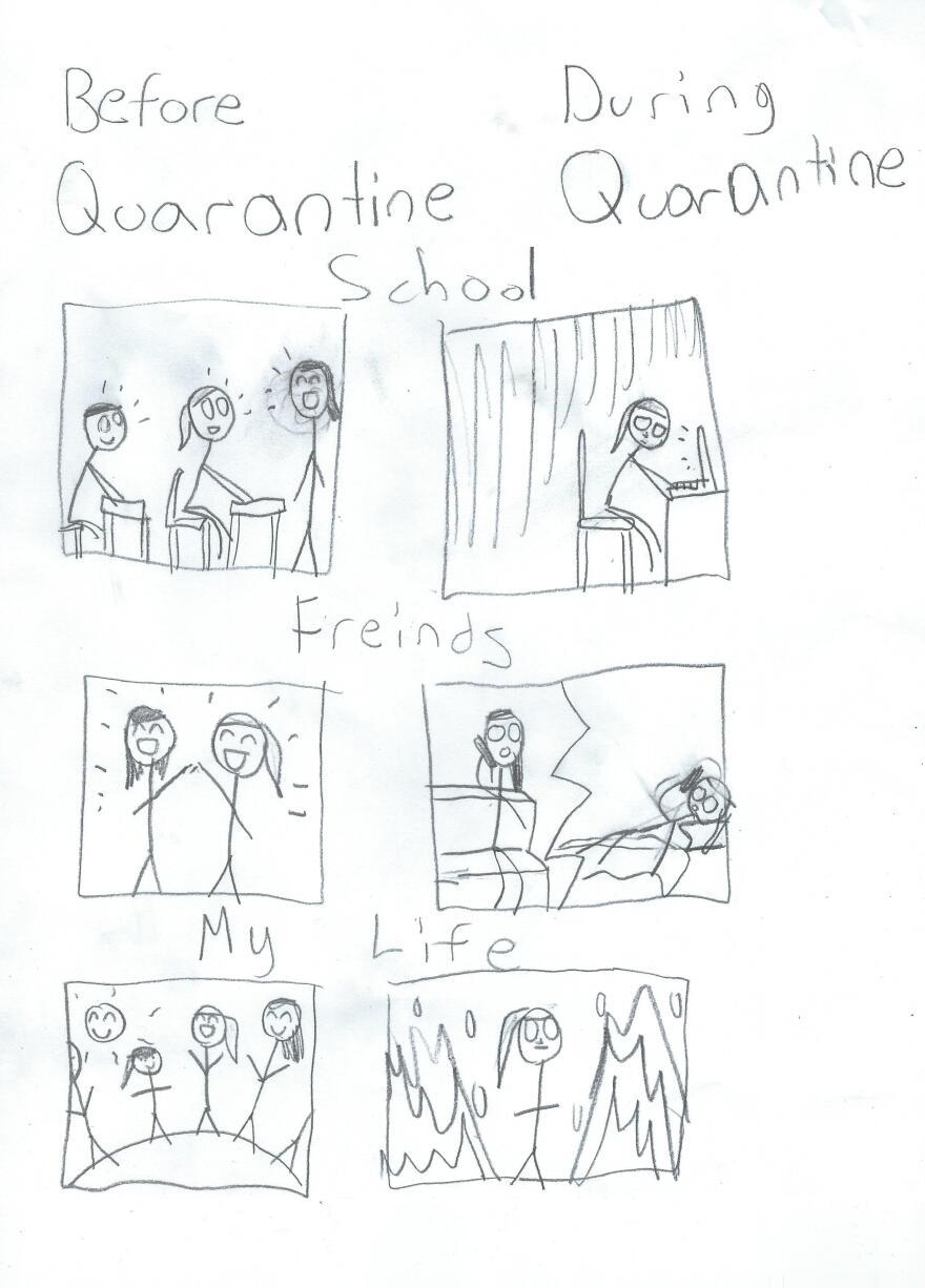 """Quarantine Life"" by Springfield, Va., cartoonist Kyra."