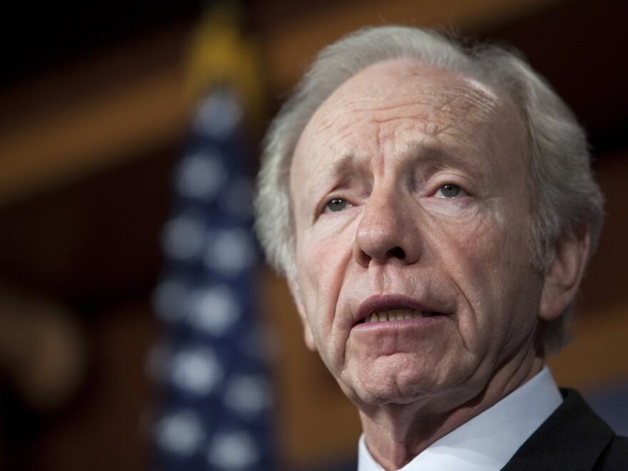 Sen. Joe Lieberman, a Connecticut independent, speaks on Capitol Hill last month.