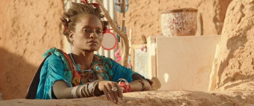 Kettly Noel plays an eccentric woman in <em>Timbuktu</em>.