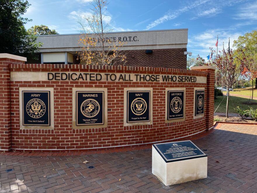 Memorial Wall at UNC Charlotte's New Veterans Park