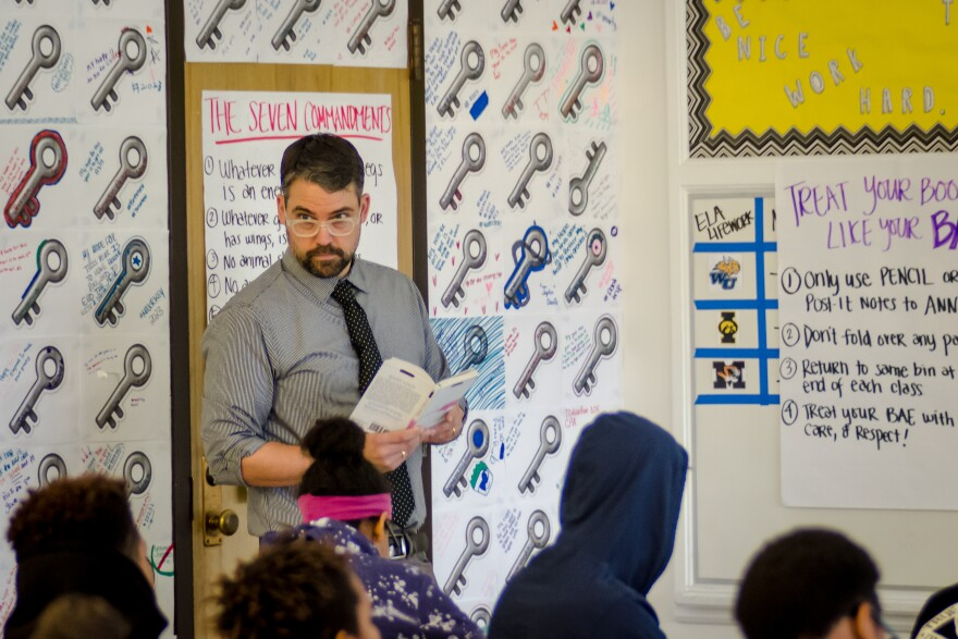 Jeff Konkel left public relations to become a middle school English teacher. He's a resident at KIPP Inspire Academy and will have his own class next year.