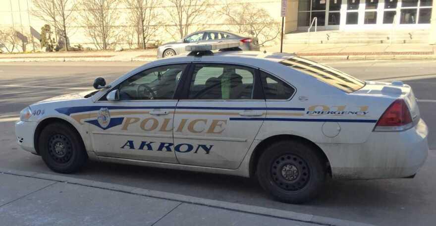 Aging Akron Police cruiser