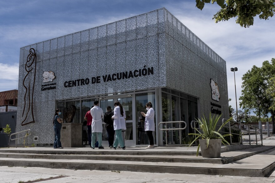 The vaccination center of the Hospital Garrahan in Buenos Aires, Argentina.