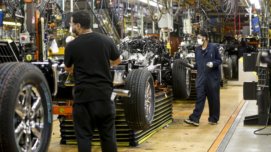 Ford brought 71,000 workers back on Monday in North America.