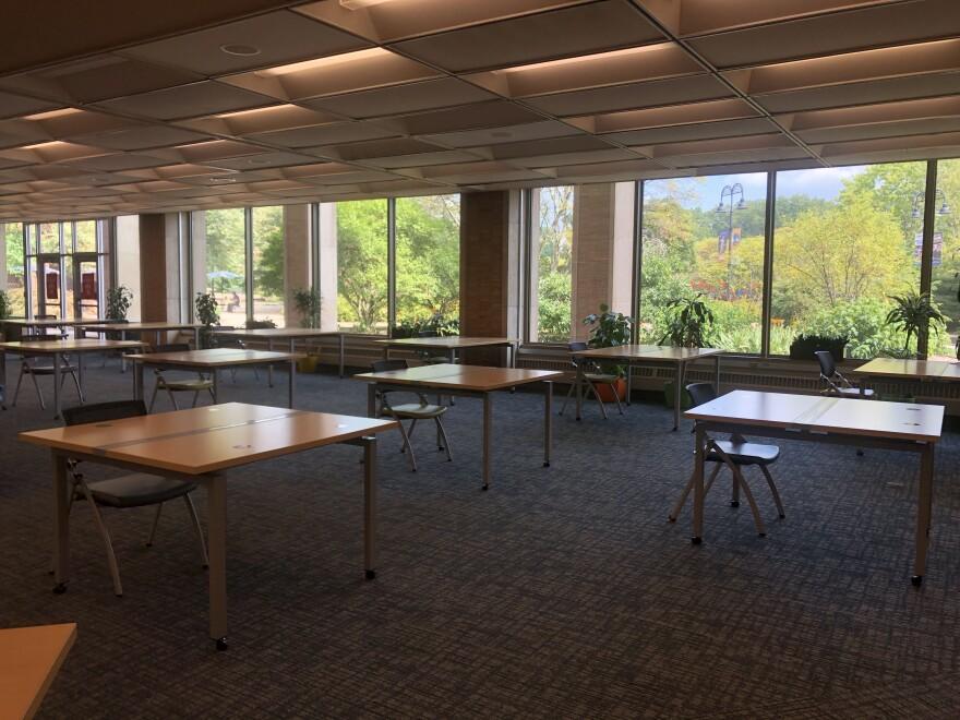 a photo of a KSU classroom
