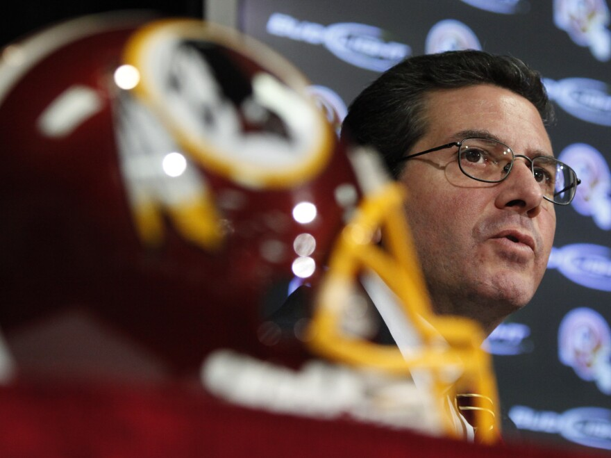 Washington Redskins owner Dan Snyder has vowed to never change the team's name.