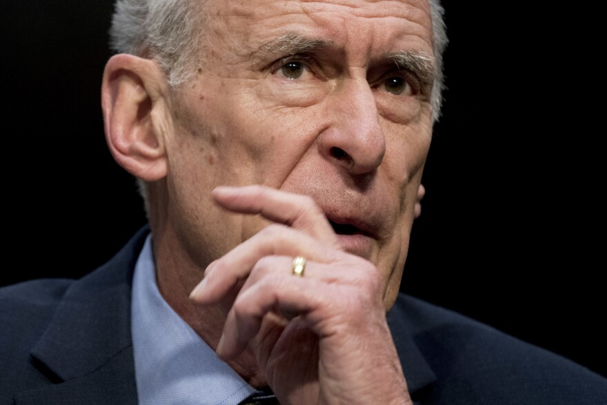 Director of National Intelligence Dan Coats speaks at a Senate Select Committee on Intelligence hearing on worldwide threats, Tuesday, Feb. 13, 2018, in Washington. (AP Photo/Andrew Harnik)
