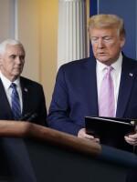 President Trump arrives to speak at the regular coronavirus task force briefing at the White House on Friday.