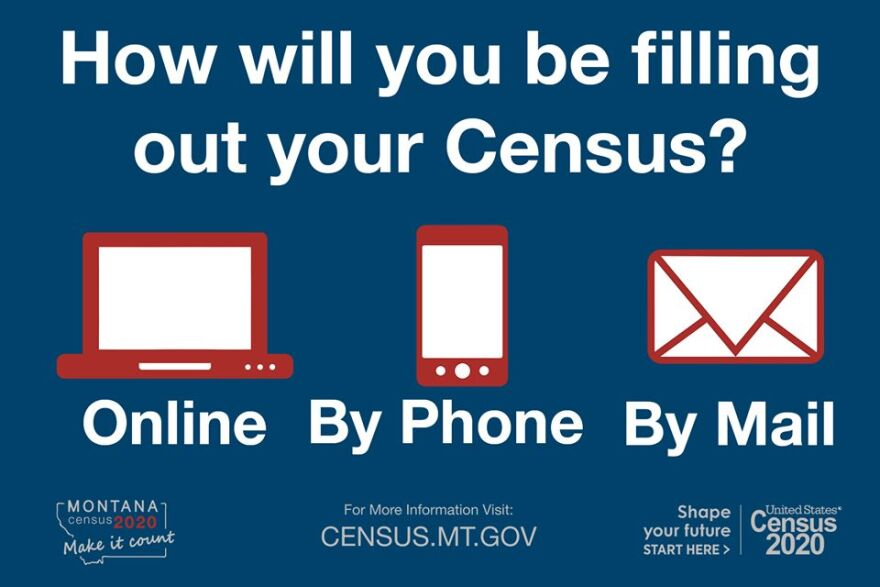 "A photo from the Census Bureau asking ""How will you be filling out your Census?"""
