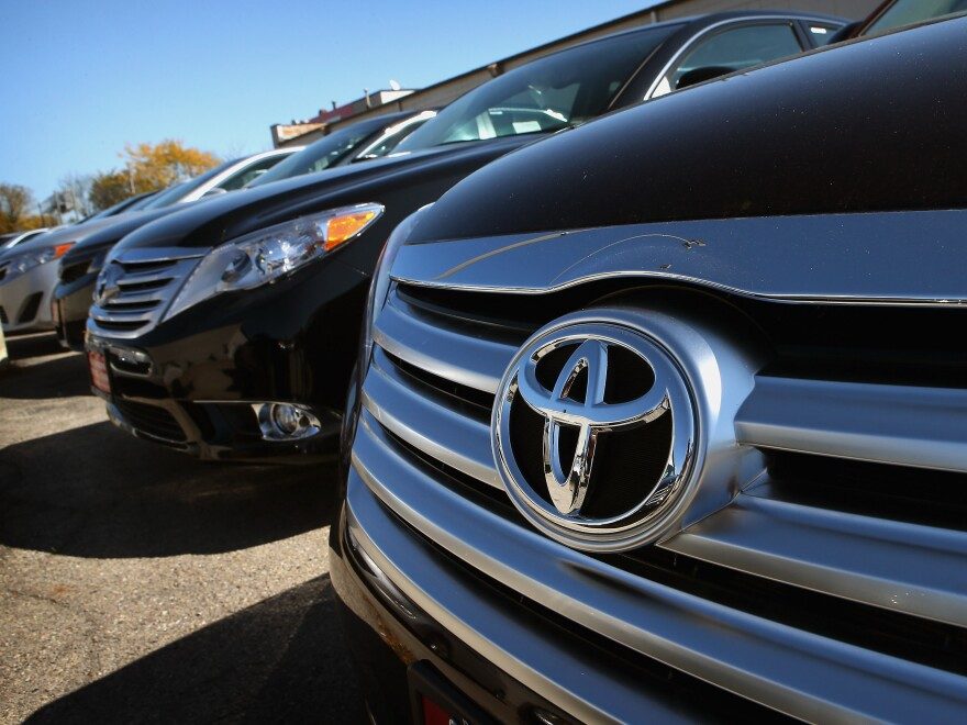 Vehicles in the lot of a Northbrook, Ill., Toyota dealer last October.