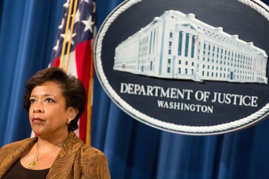 Attorney General Loretta E. Lynch listens at a press conference on June 22 in Washington, D.C.