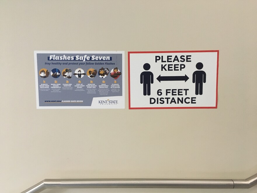 a photo of safe distancing signage