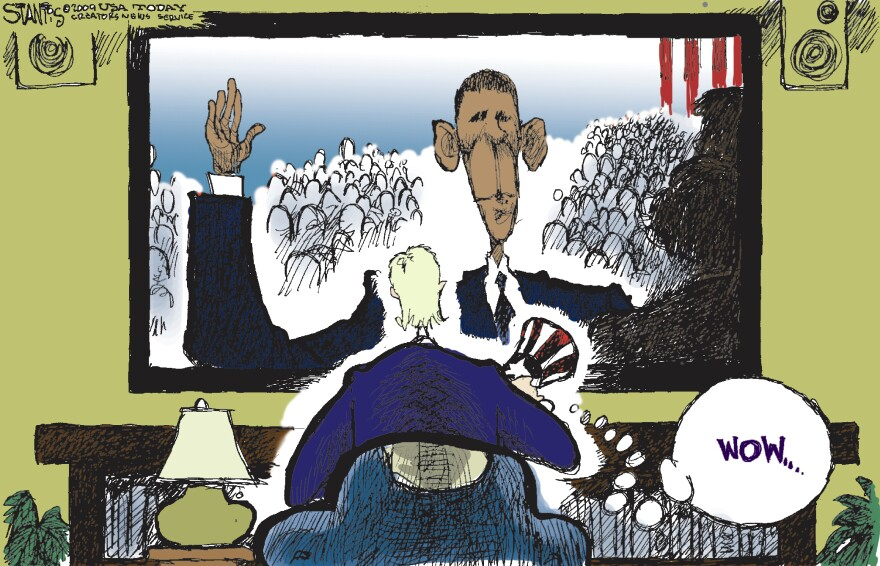 Scott Stantis calls himself a conservative, and his cartoons frequently criticize President Obama. But for the inauguration in 2009, he simply chose to mark the moment as historic.