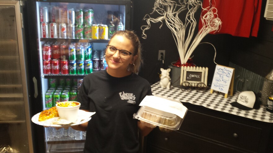Ashlie Tinor works at Uncle Beth's BBQ, a small family restaurant in Champaign County.