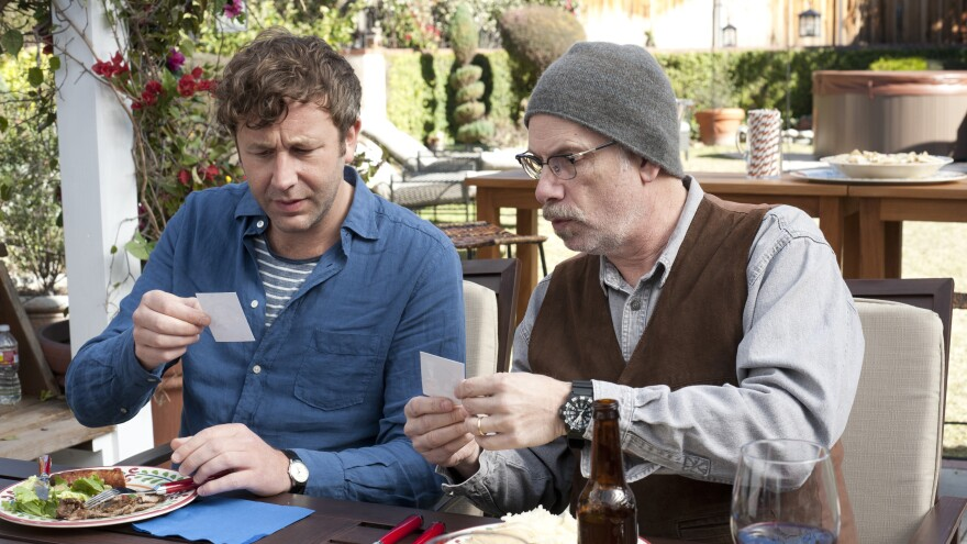 In the new HBO series <em>Family Tree, </em>Chris O'Dowd (above left, with the series' writer-director-producer Christopher Guest) stars as a guy who has just lost his job and girlfriend and fills the void by looking into his family genealogy.