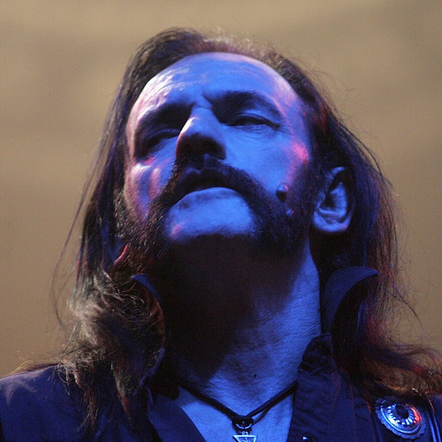 Lemmy Kilmister  performing on November 19, 2005 in London. The prehistoric crocodile <em>Lemmysuchus obtusidens </em>was recently named after the famed singer.